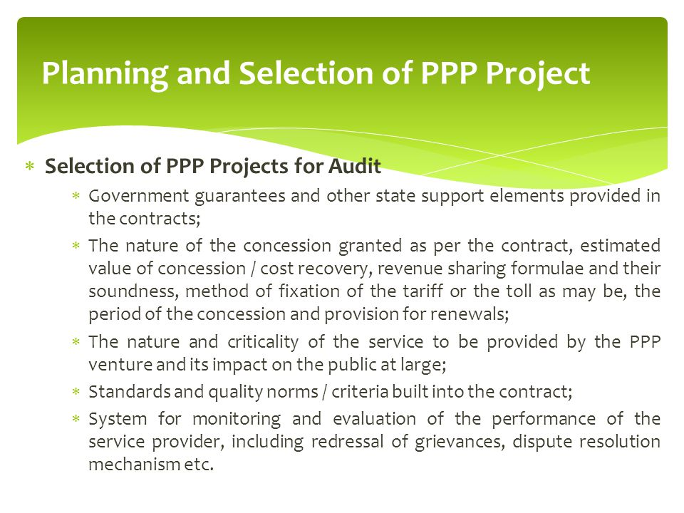 project planning standards and guidelines