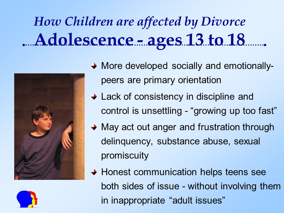 the physiological social and economic effects of divorces on children The psychological effects of divorce on children are more extreme when they're forced to endure a long, drawn-out custody battle these children suffer from a variety of psychological problems like denial, guilt, low self-esteem, physical problems, depression, anger, panic, destructive or even criminal behavior.