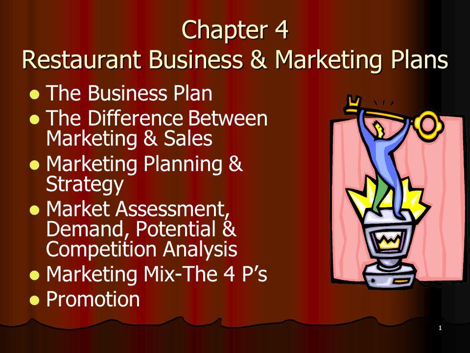 chapter 4 restaurant business marketing plans