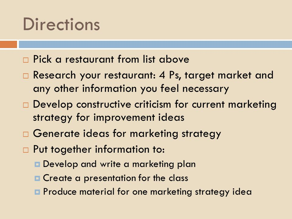 What Is the Target Market for a Healthy Restaurant?