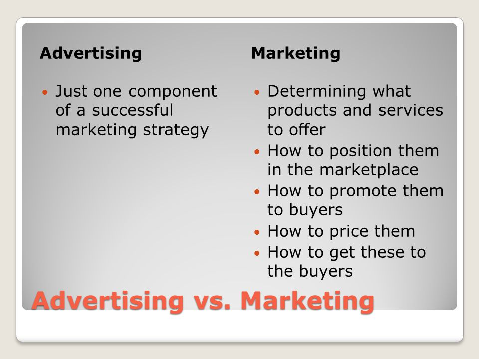 how to offer marketing services