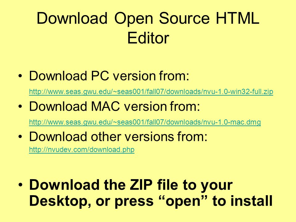 Download Open Source HTML Editor