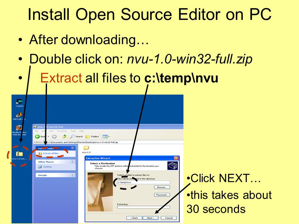 Install Open Source Editor on PC