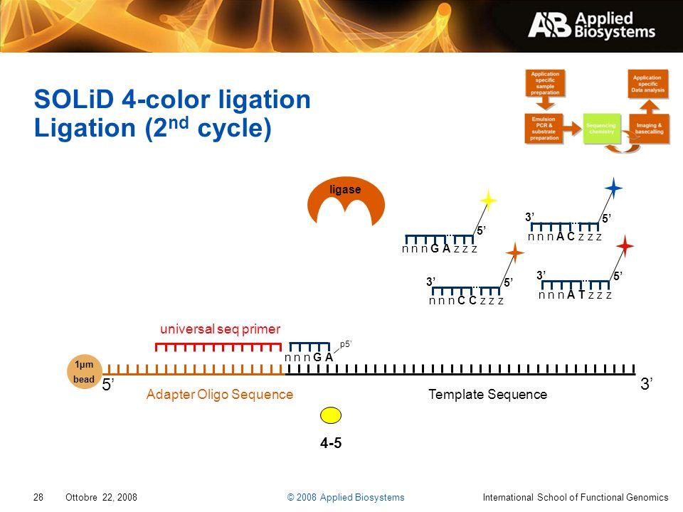 SOLiD 4-color ligation Ligation (2nd cycle)
