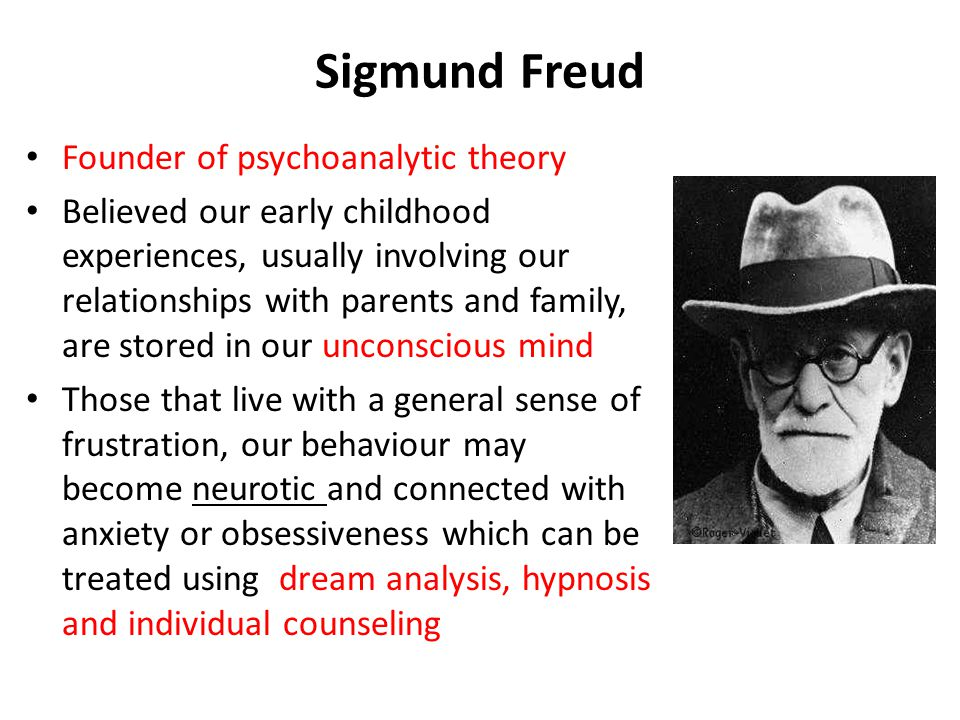 A personal analysis of sigmund freuds psychoanalytical theory