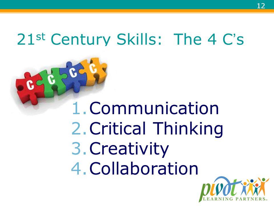 21st Century Skills: The 4 C's