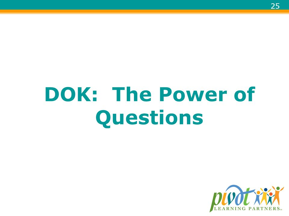 DOK: The Power of Questions