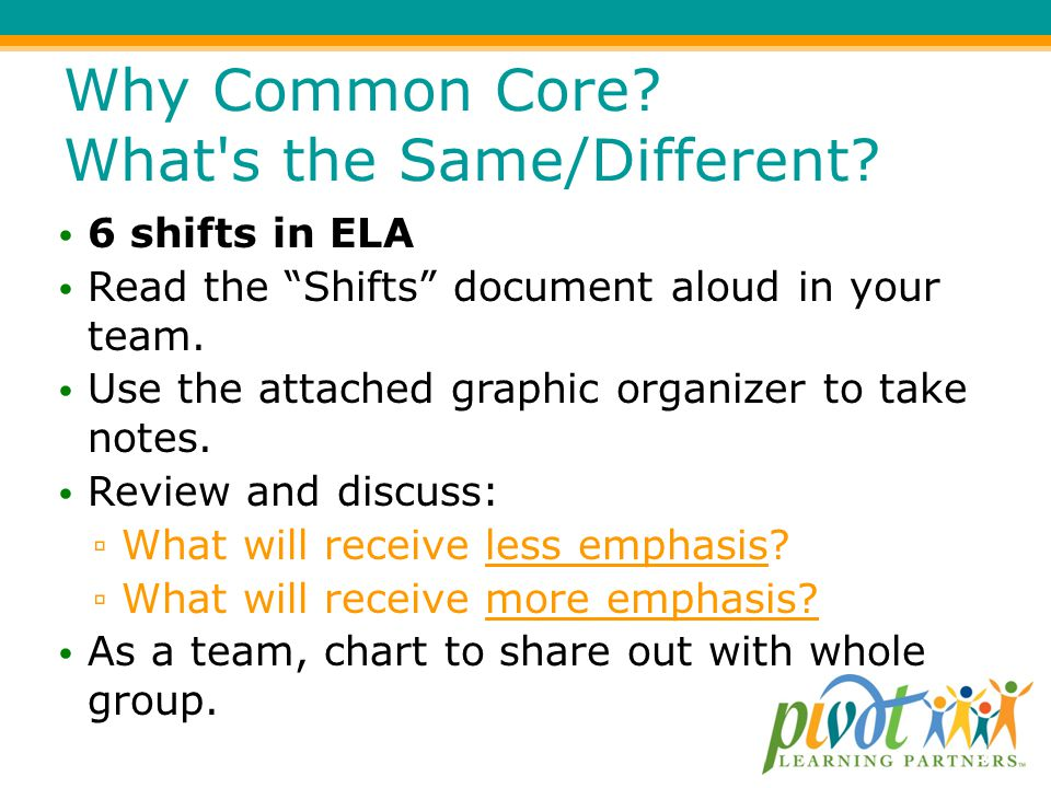 Why Common Core What s the Same/Different