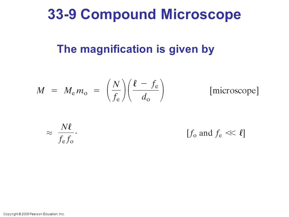 Chapter 33 lenses and optical instruments ppt video online download 43 33 9 compound microscope the magnification is given by ccuart Images
