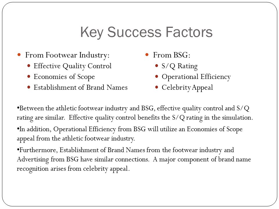 key success factors in sugar industry Accomplishing critical success factors—and therefore achieving strategic business success—is an attainable goal  determine which factors are key in achieving .