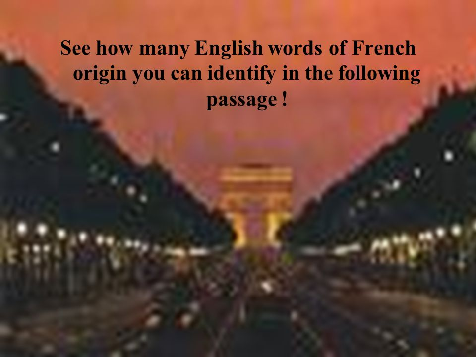 english words of french origin pdf