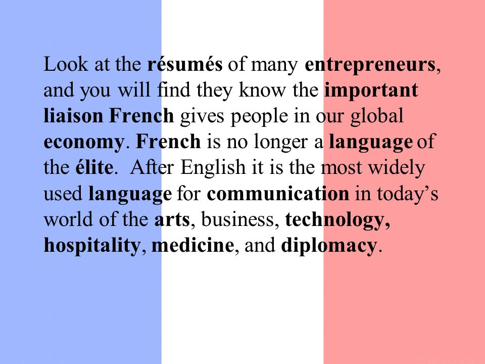 french resumes