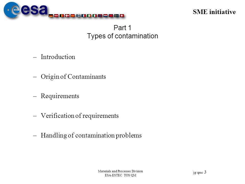 Part 1 Types of contamination