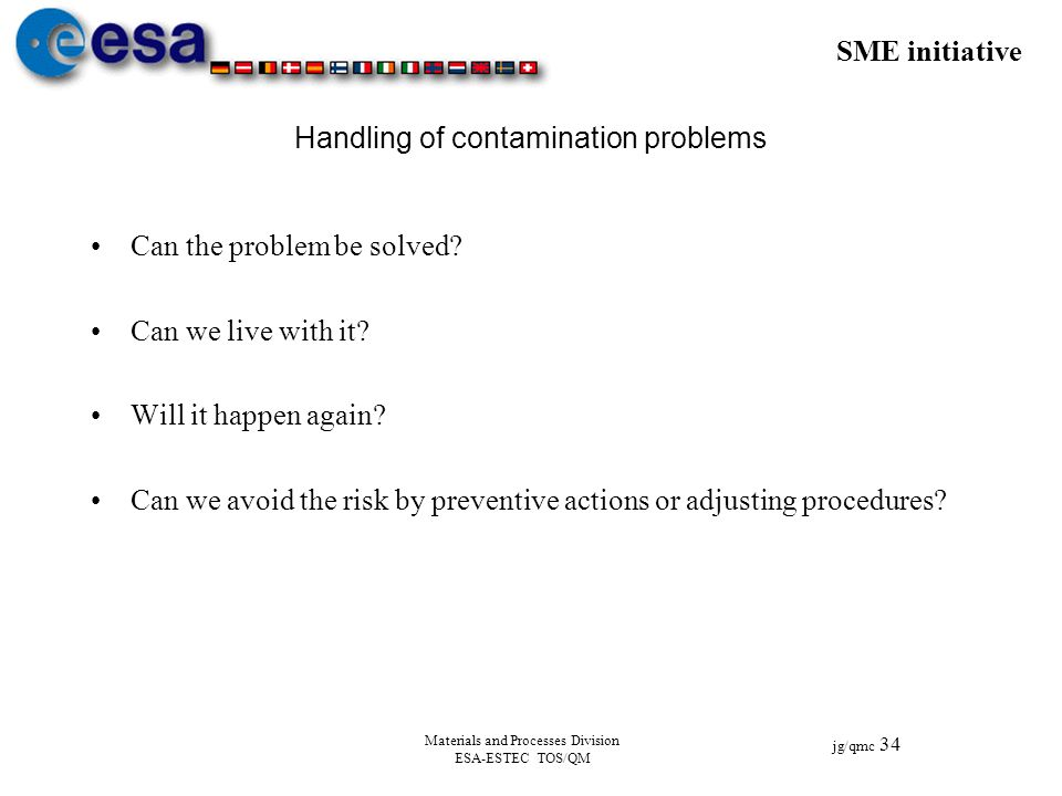 Handling of contamination problems