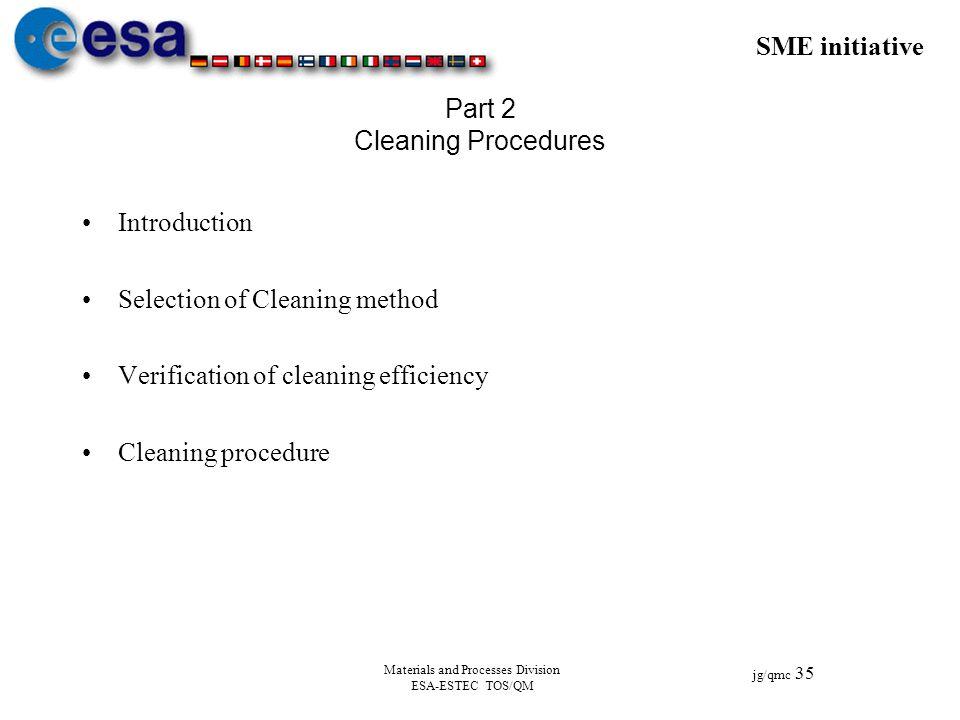 Part 2 Cleaning Procedures