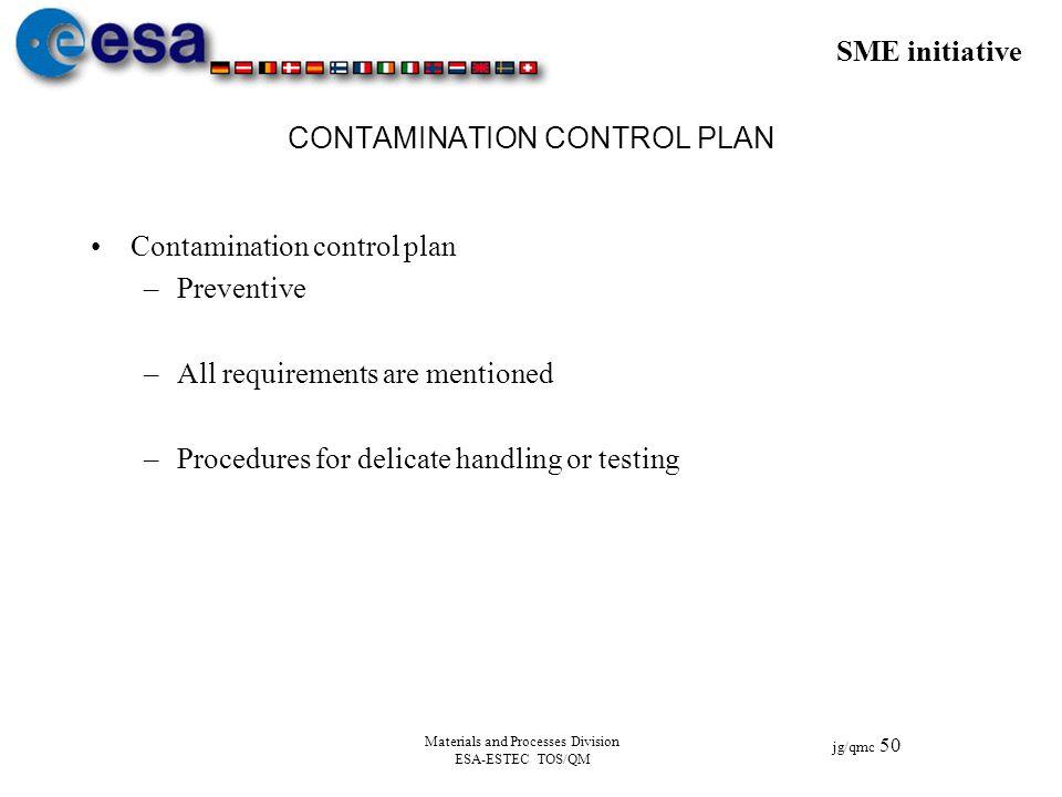 CONTAMINATION CONTROL PLAN