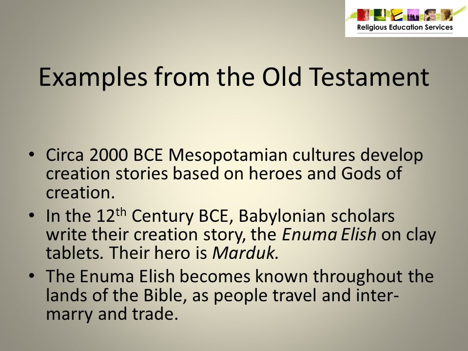 Similarities Between Enuma Elish and the First Creation Story of Genesis