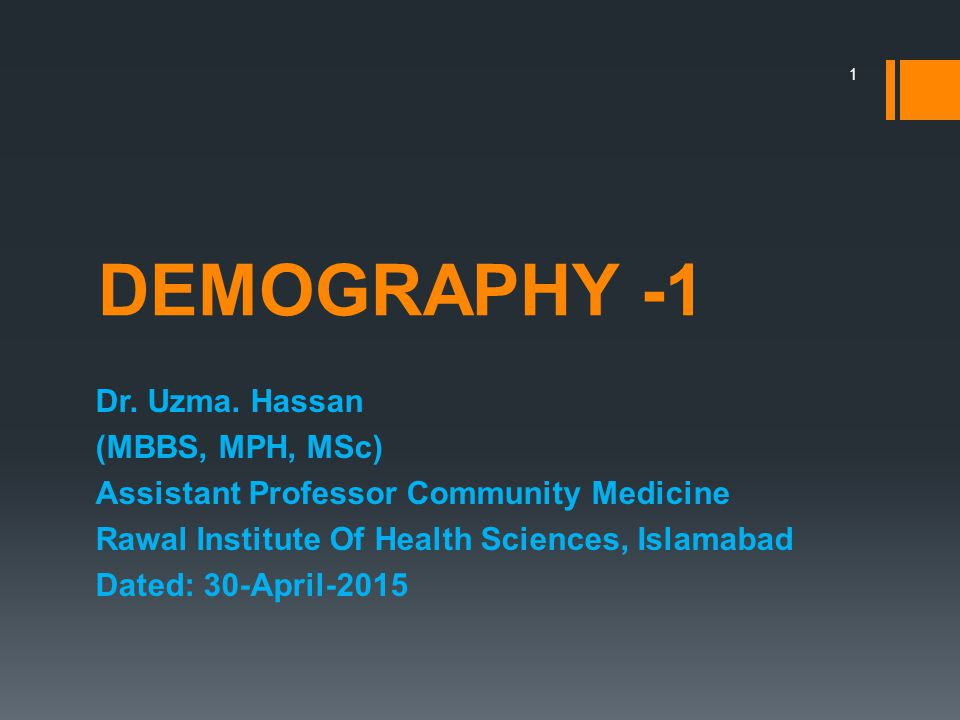 an analysis of demography as the scientific study of population