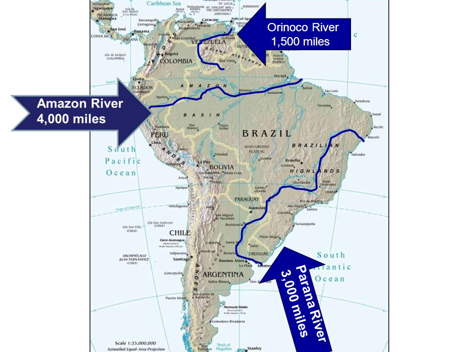 Physical Geography Of Latin America Ppt Download - Parana river map