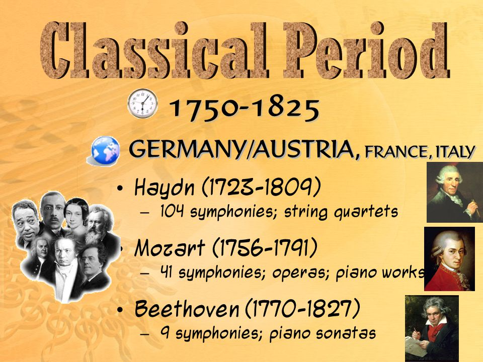 GERMANY/AUSTRIA, FRANCE, ITALY Haydn ( )