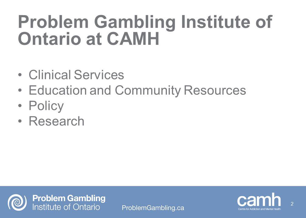 Camh and gambling gambling among women