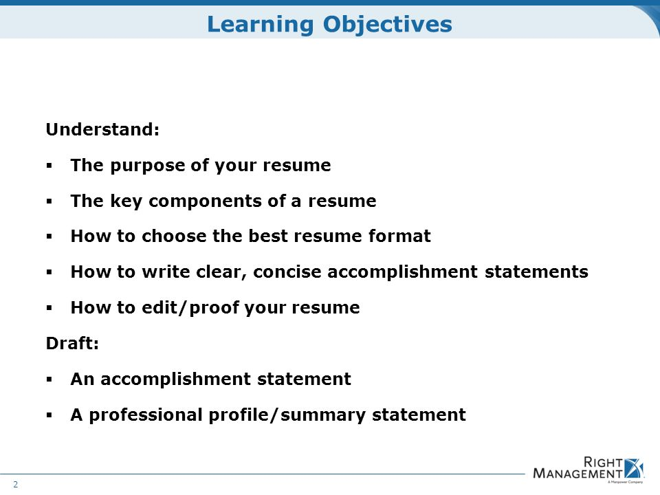 Resume Development WELCOME Materials Resume guidelines worksheets – Resume Draft