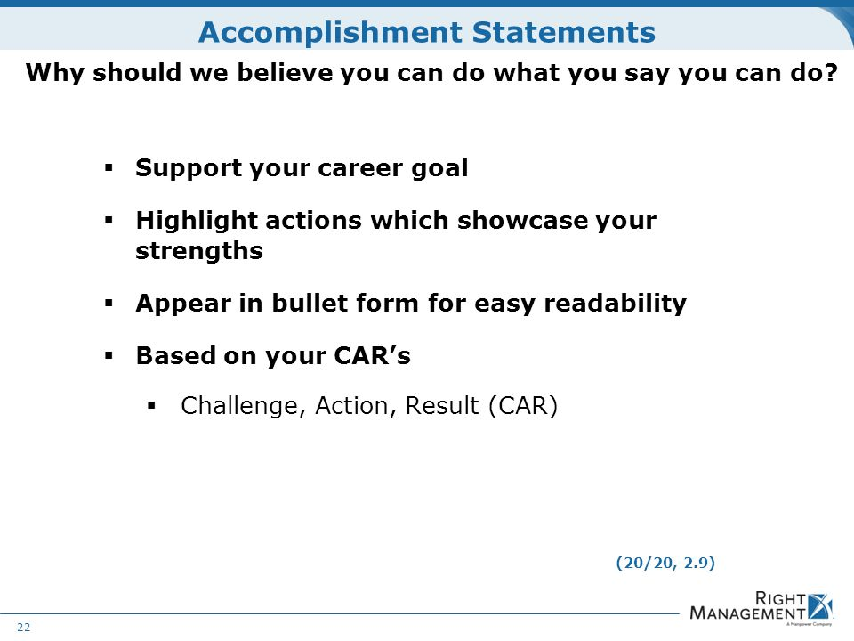 Challenge action result resume examples