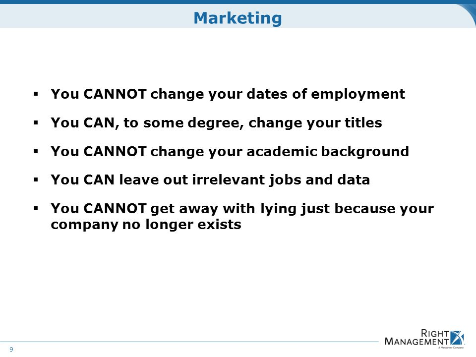 Irrelevant Jobs Or Employment Gap Resume