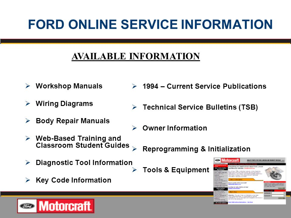 Classroom Based Web Design Course ~ Quality jobs start with ford oem service information