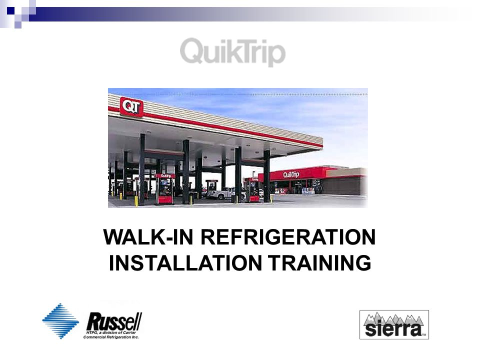WALK-IN REFRIGERATION INSTALLATION TRAINING