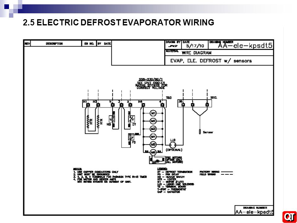 2.5+ELECTRIC+DEFROST+EVAPORATOR+WIRING walk in refrigeration installation training ppt video online russell evaporator wiring diagram at creativeand.co