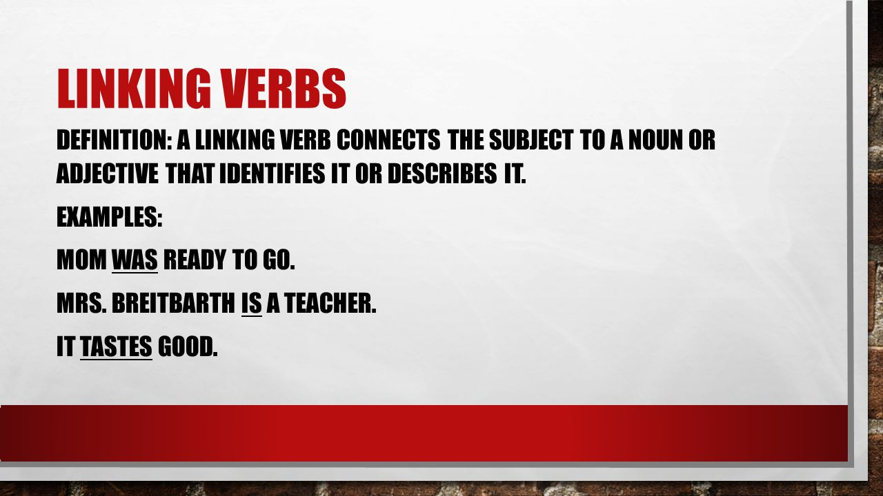 A Verb Expresses The Action Or Condition Of A Person Place Or