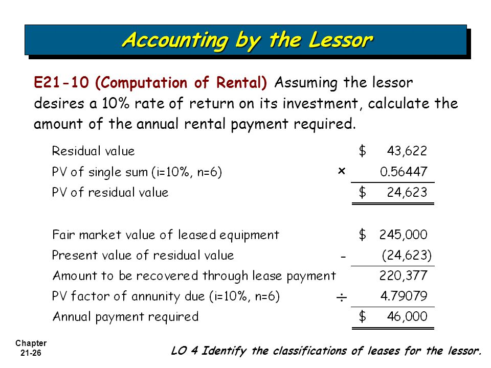 21 Chapter Accounting for Leases Intermediate Accounting 12th ...