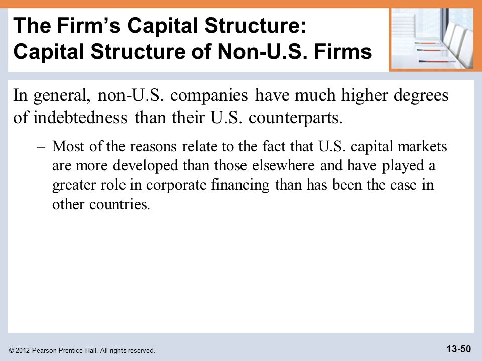 capital structure of firms Capital structure, amount and type of permanent capital invested in a business  concern a firm's capital structure includes all outstanding capital stock and.