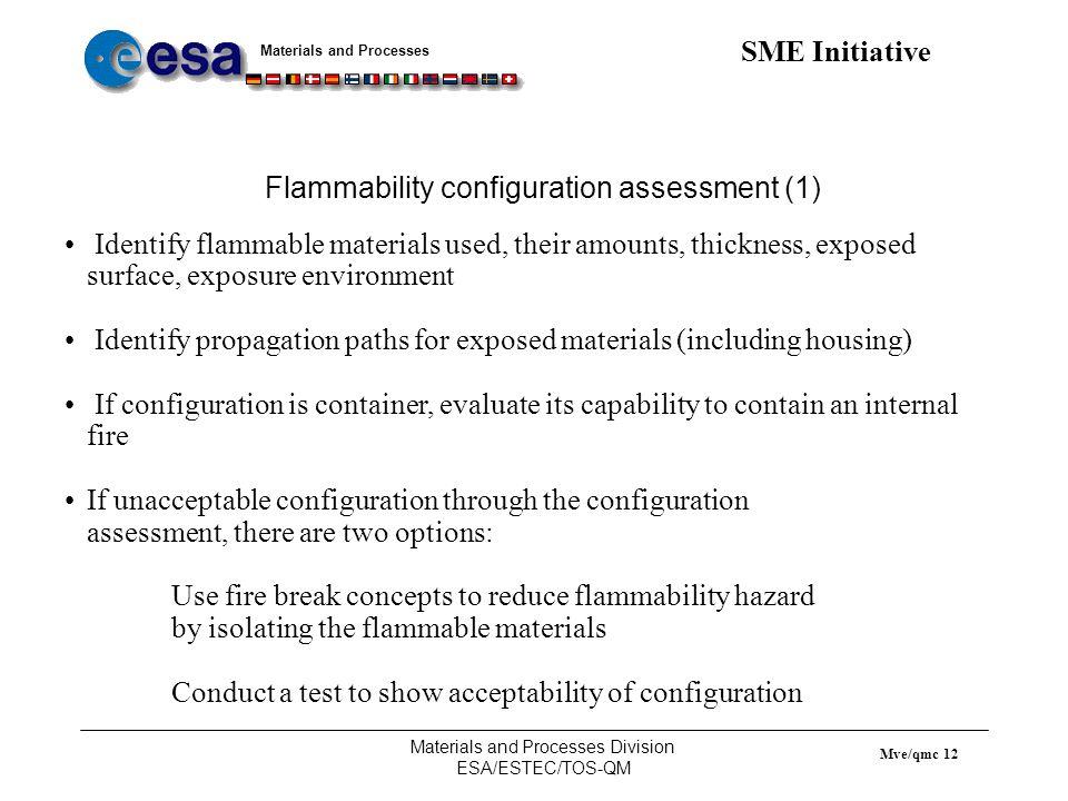 Flammability configuration assessment (1)