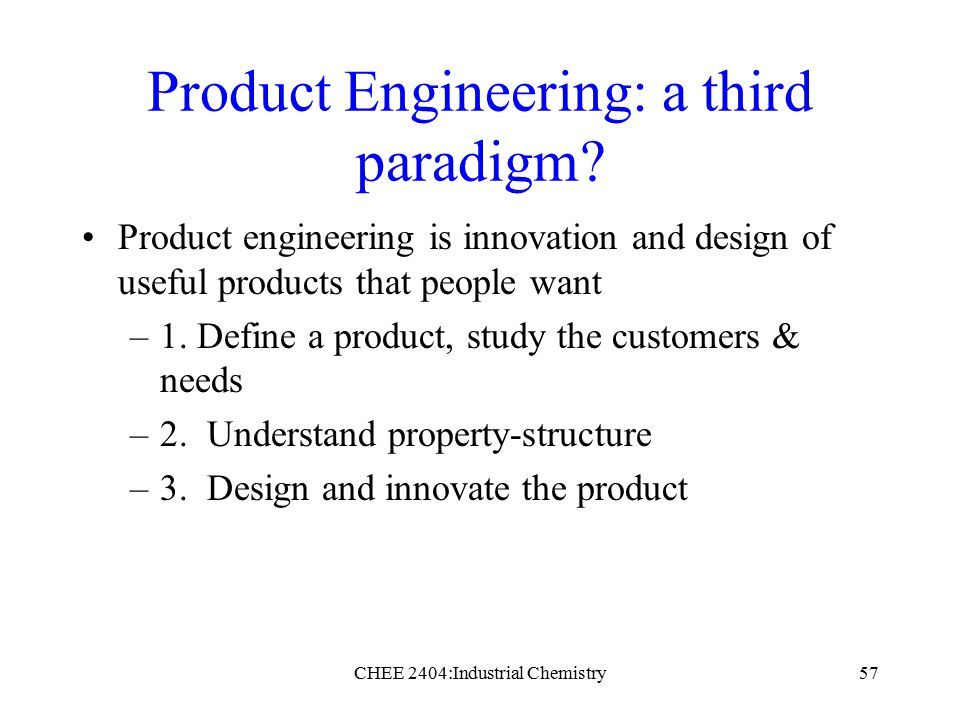 A history of chemical engineering ppt download for Innovation in product and industrial design
