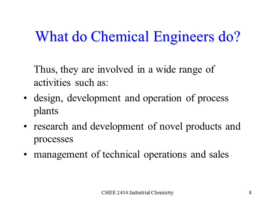 A History of Chemical Engineering
