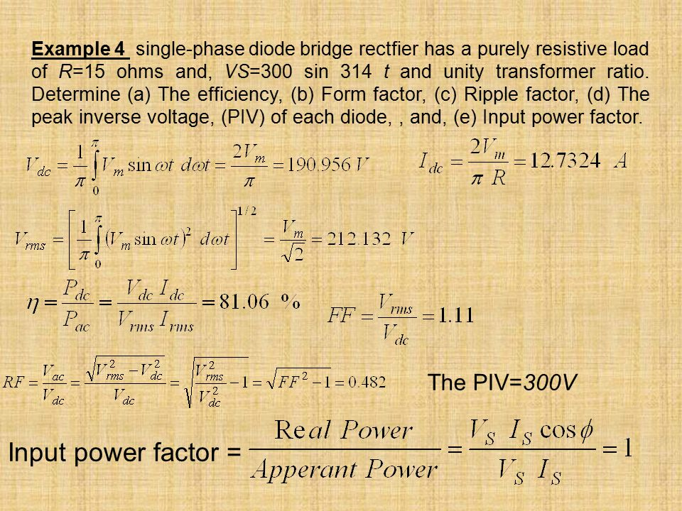 Diode Circuits or Uncontrolled Rectifier - ppt download