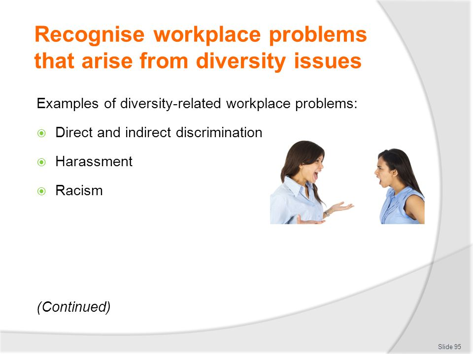 examples of discrimination in the workplace