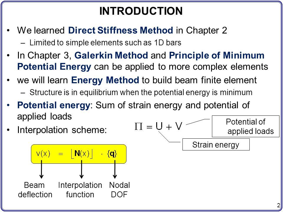energy finite element method for high Abstract: energy finite element analysis (efea) is developed to solve the problem of vibration plates at high frequency the energy governing equations in the efea based on the space- and time-averaged energy density to represent the general vibration behavior are derived in this paper, the derived energy equations.