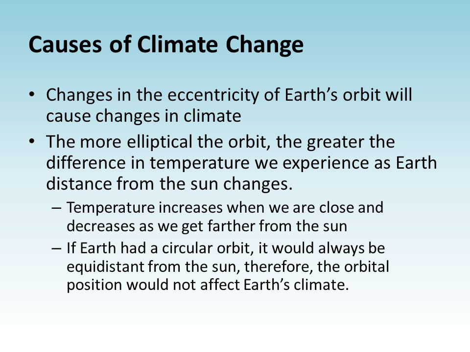 causes of climate change pdf