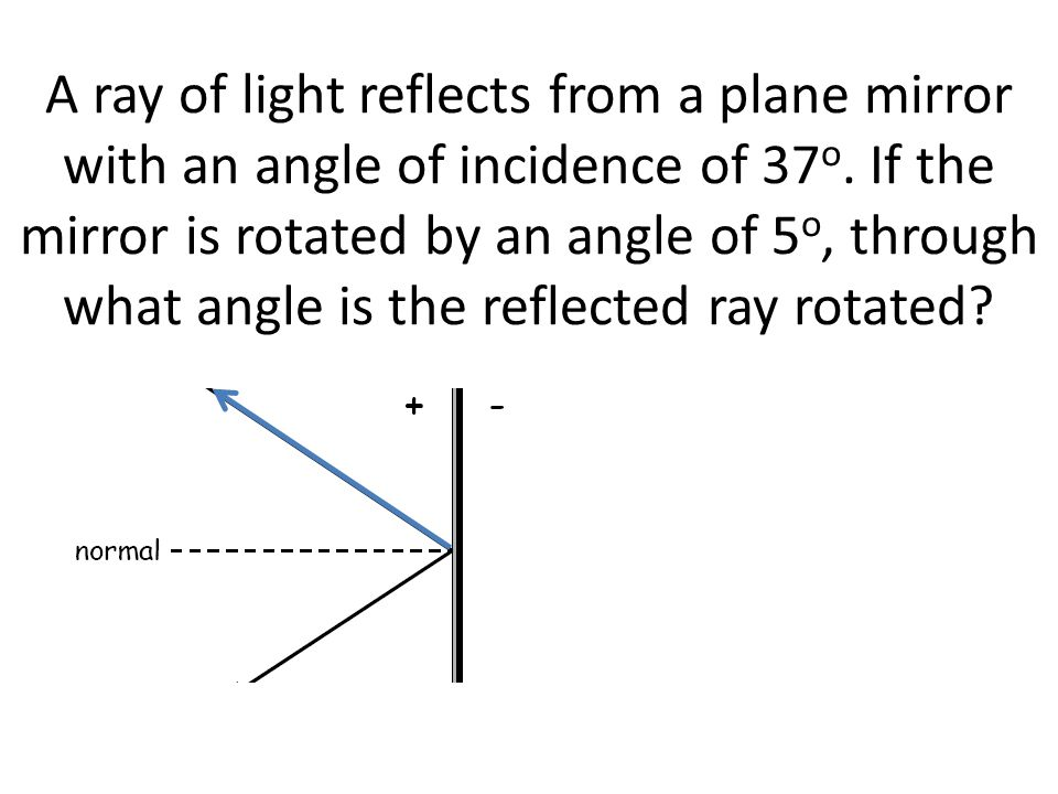 Chapter 26 Geometrical Optics. - ppt video online download Angle Of Incidence Mirror