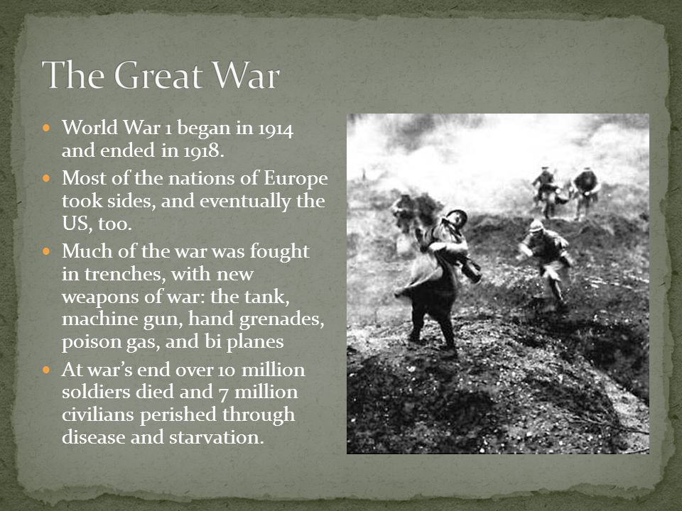 A look at how world war i started