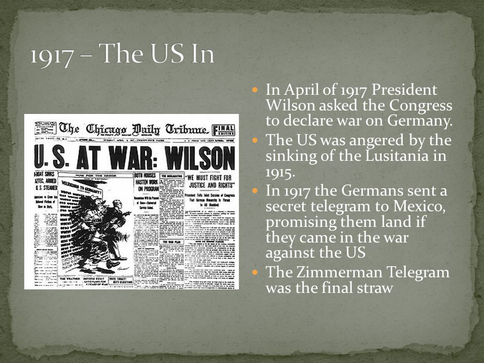 the differing viewpoints of president wilson regarding declarations of war Today in history: woodrow wilson asks congress for a declaration of war west wing reports president woodrow wilson at entered world war i wilson's decision to.