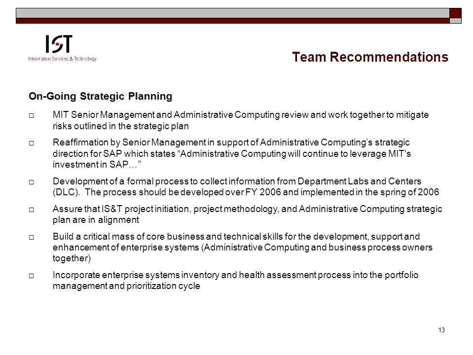Team Recommendation: Agenda Purpose Of Project, Goals & Objectives Outcomes