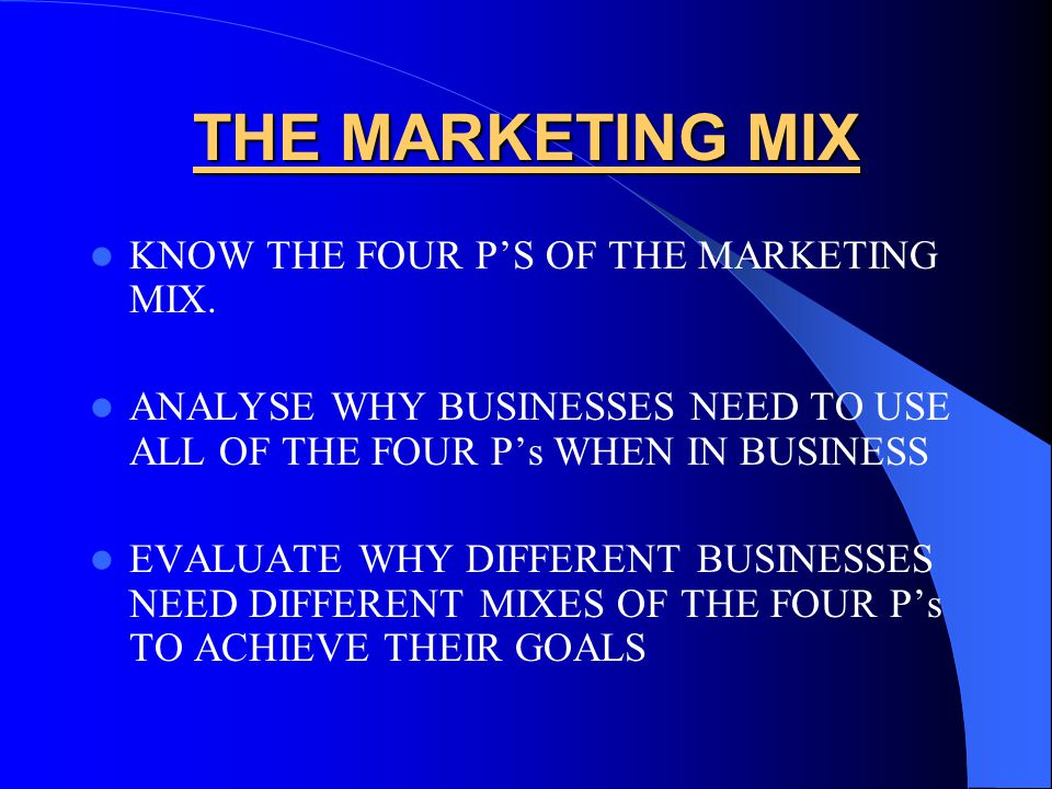 evaluate and determine marketing mix 4 most important elements of promotion mix | business marketing  the evaluation of effectiveness of advertisement is very difficult as there is no immediate and.