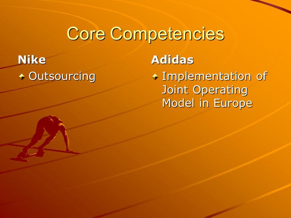 nike core competencies