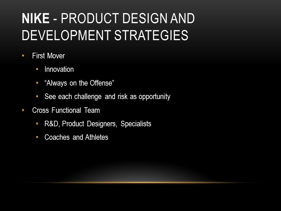 Nike Inc. Operations Management: 10 Decisions, Productivity