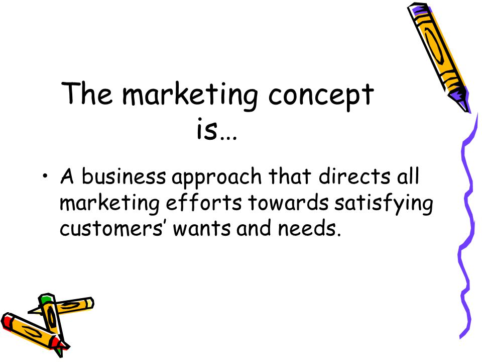The marketing concept is…