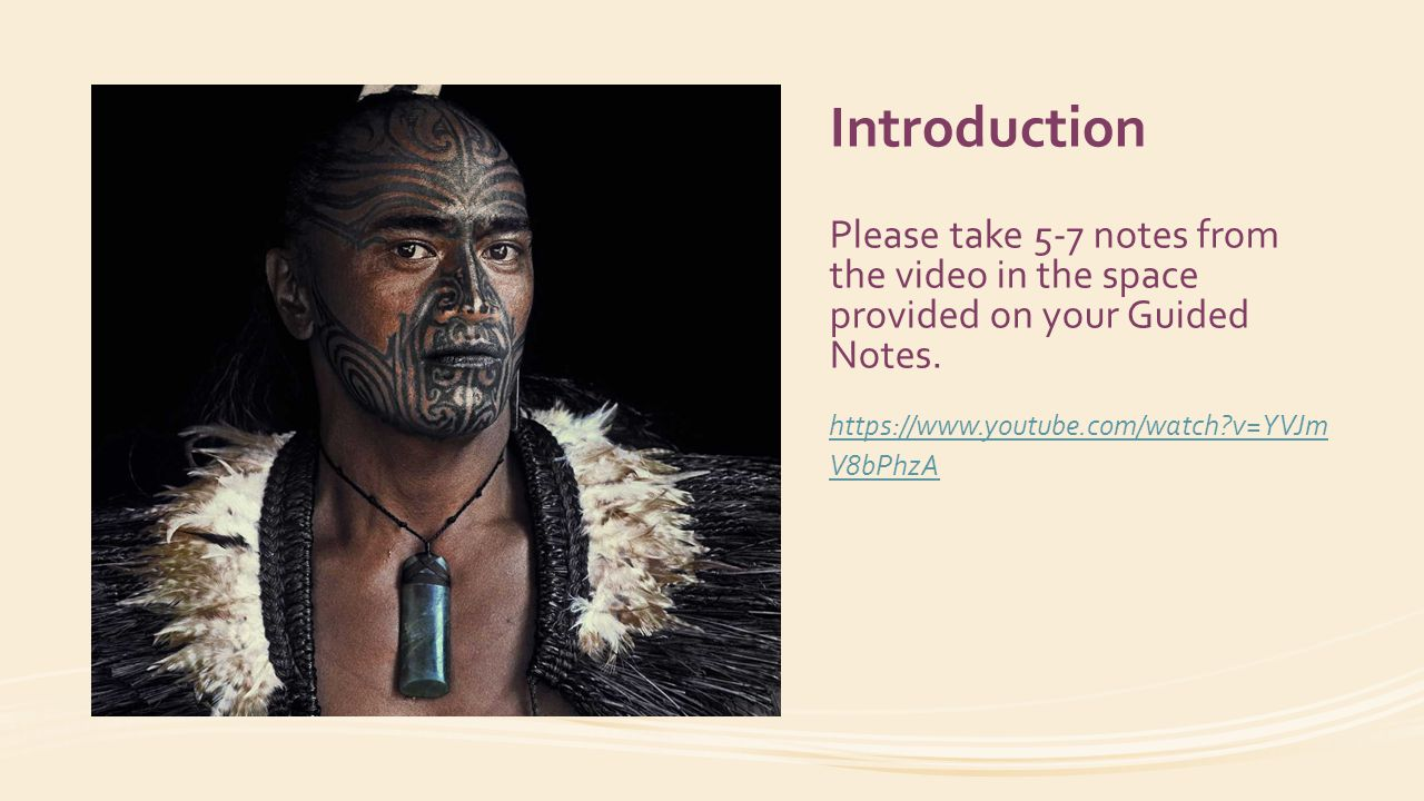 Introduction Please take 5-7 notes from the video in the space provided on your Guided Notes.